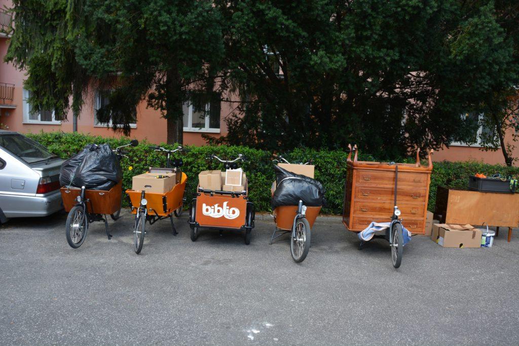 pięć rowerów cargo