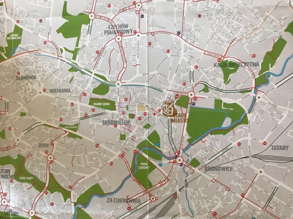Mapa rowerowa Lublina 2020